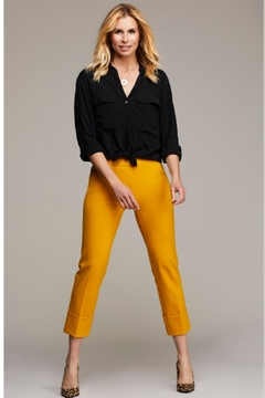 Shoptiques Product: Rolled Cuff Cropped Compression Pant, Dijon