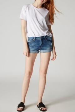 Blank NYC Rolled-Cuff Denim Shorts - Product List Image