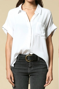 Shoptiques Product: Rolled Cuffed Button-Up