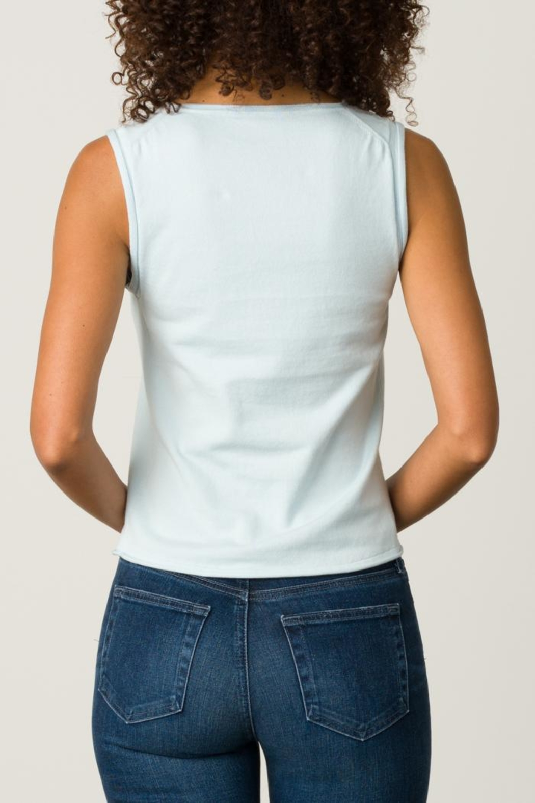 Margaret O'Leary Rolled Edge Tank - Front Full Image