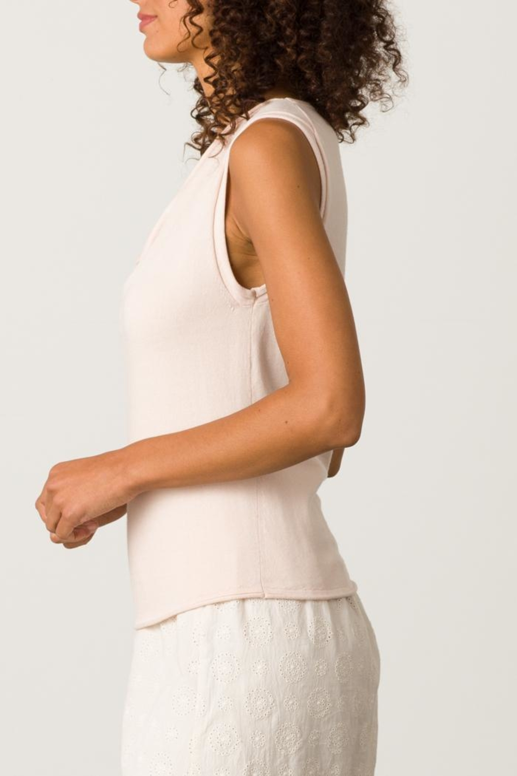 Margaret O'Leary Rolled Edge Tank - Front Cropped Image