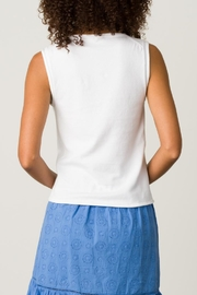 Margaret O'Leary Rolled Edge Tank - Side cropped