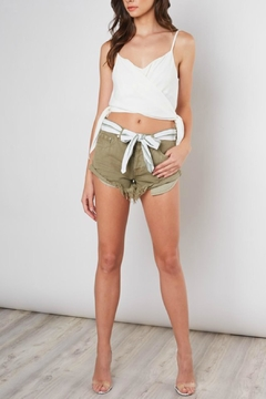 Pretty Little Things Rolled Hem Shorts - Product List Image