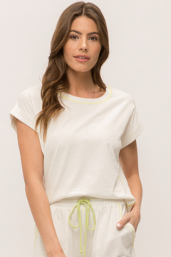 Mystree Rolled Short Sleeve Crop Top - Product List Image
