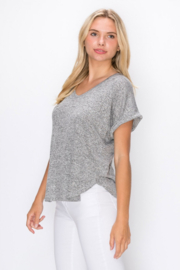 Coin 1804 Rolled Sleeve V-Neck Tee - Product Mini Image