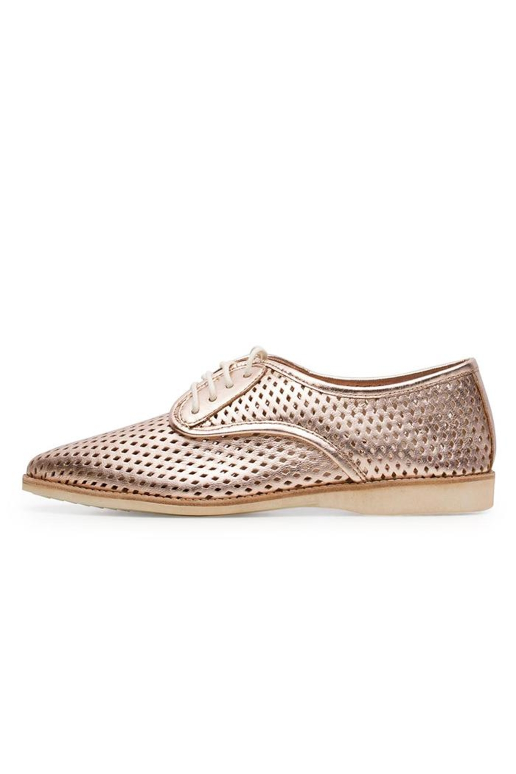 Rollie/Sidecut Rose Gold Oxfords - Front Cropped Image