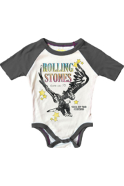 Rowdy Sprout  Rolling Stones Raglan Onesie - Product Mini Image