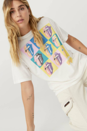 Daydreamer  Rolling Stones Urban Jungle Boyfriend Tee - Back cropped
