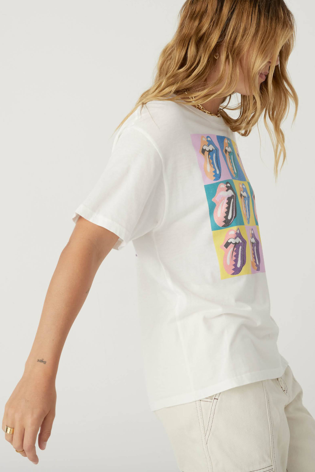 Daydreamer  Rolling Stones Urban Jungle Boyfriend Tee - Side Cropped Image