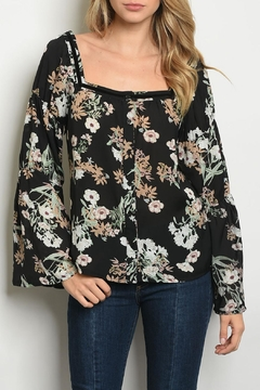 Roly Poly Black Floral Top - Product List Image
