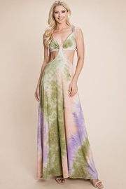 Roly Poly Cut Out Tie Dye Maxi Dress - Product Mini Image