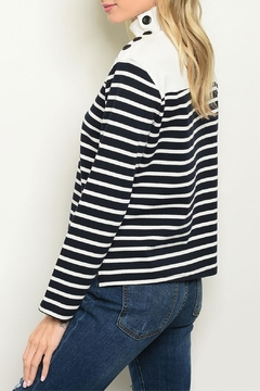 Roly Poly Navy Striped Top - Alternate List Image