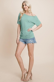 ROLYPOLY Apparel Asymmetry Dolman One Off Shoulder Tops T Shirt - Product Mini Image