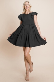 ROLYPOLY Apparel Babydoll Tiered Mini Dress Short Sleeve Ruffle - Product Mini Image