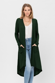 ROLYPOLY Apparel Button Down Solid Color Knit Cardigans With Pockets - Product Mini Image