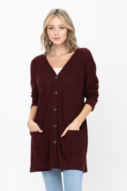 ROLYPOLY Apparel Button Down Solid Knit Loose Sweater Cardigans - Product Mini Image
