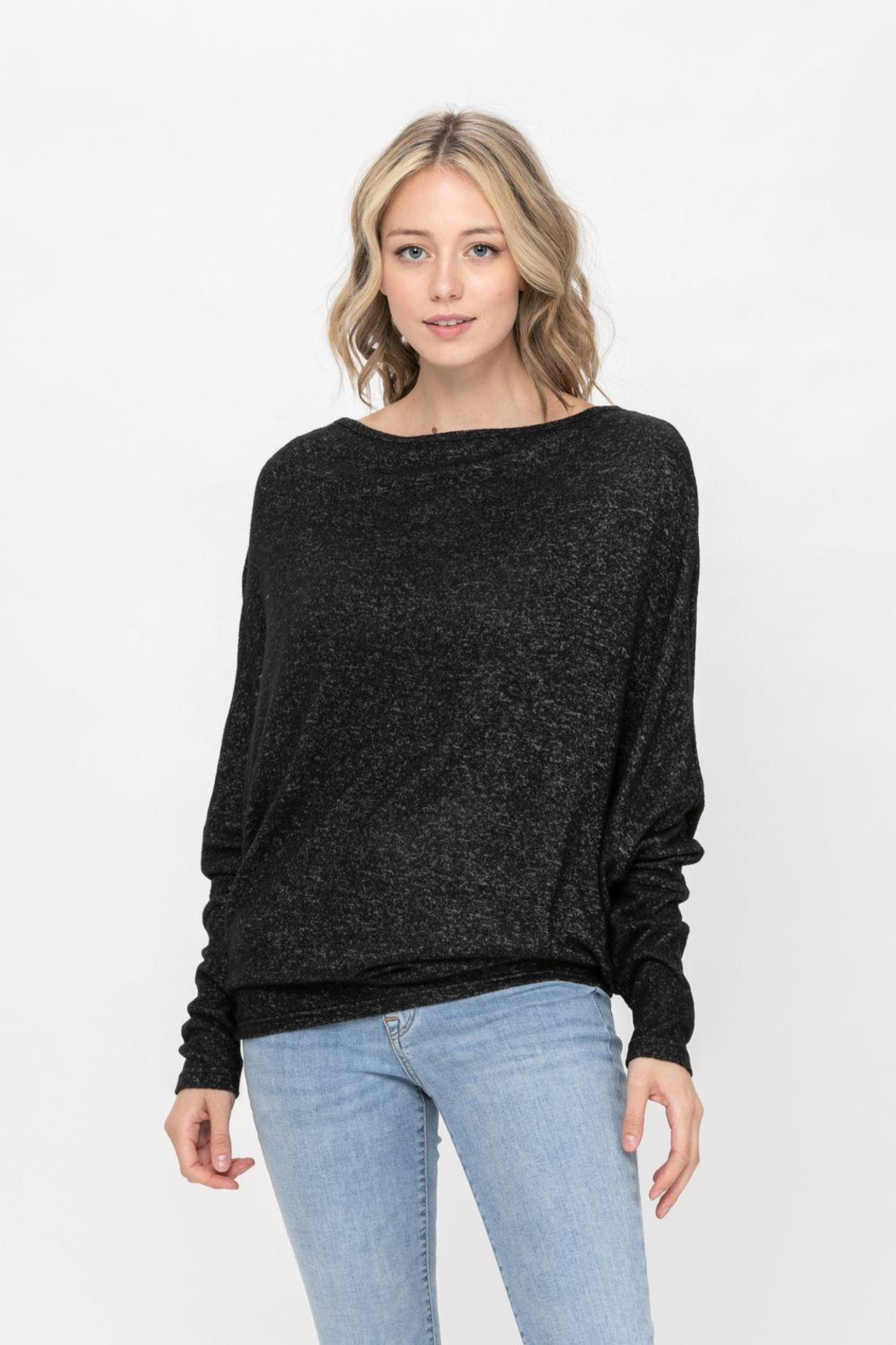 ROLYPOLY Apparel Casual Pullover Dolman Batwing Sweater - Front Cropped Image