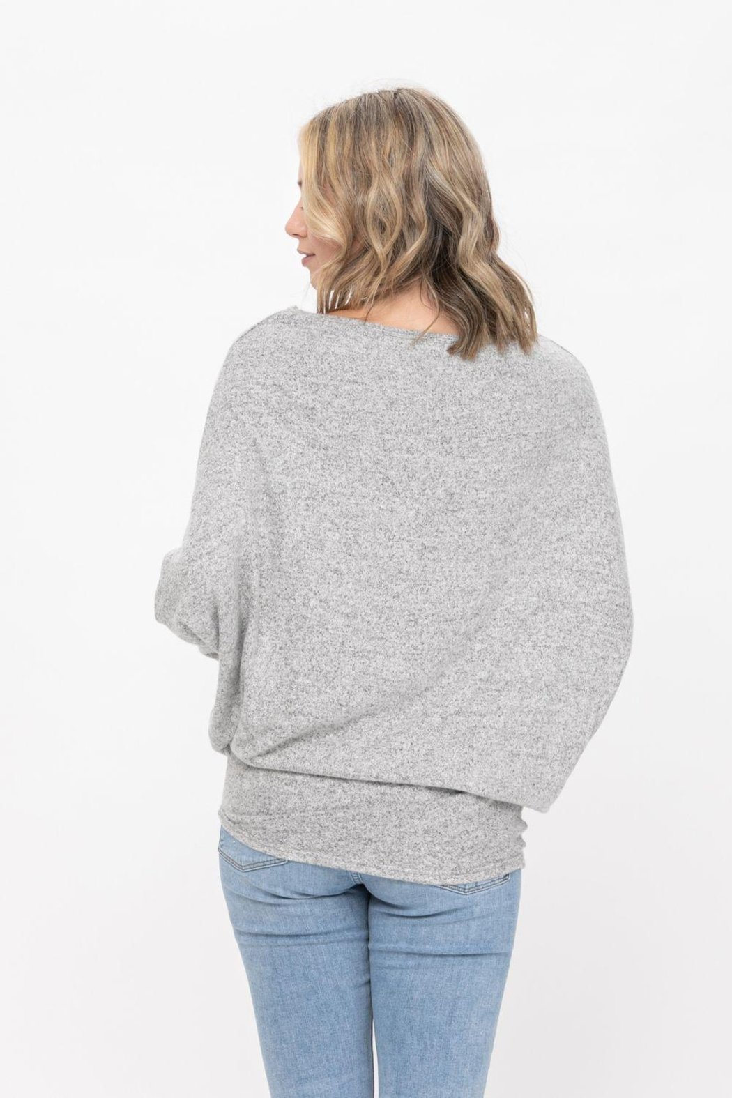 ROLYPOLY Apparel Casual Pullover Dolman Batwing Sweater - Side Cropped Image