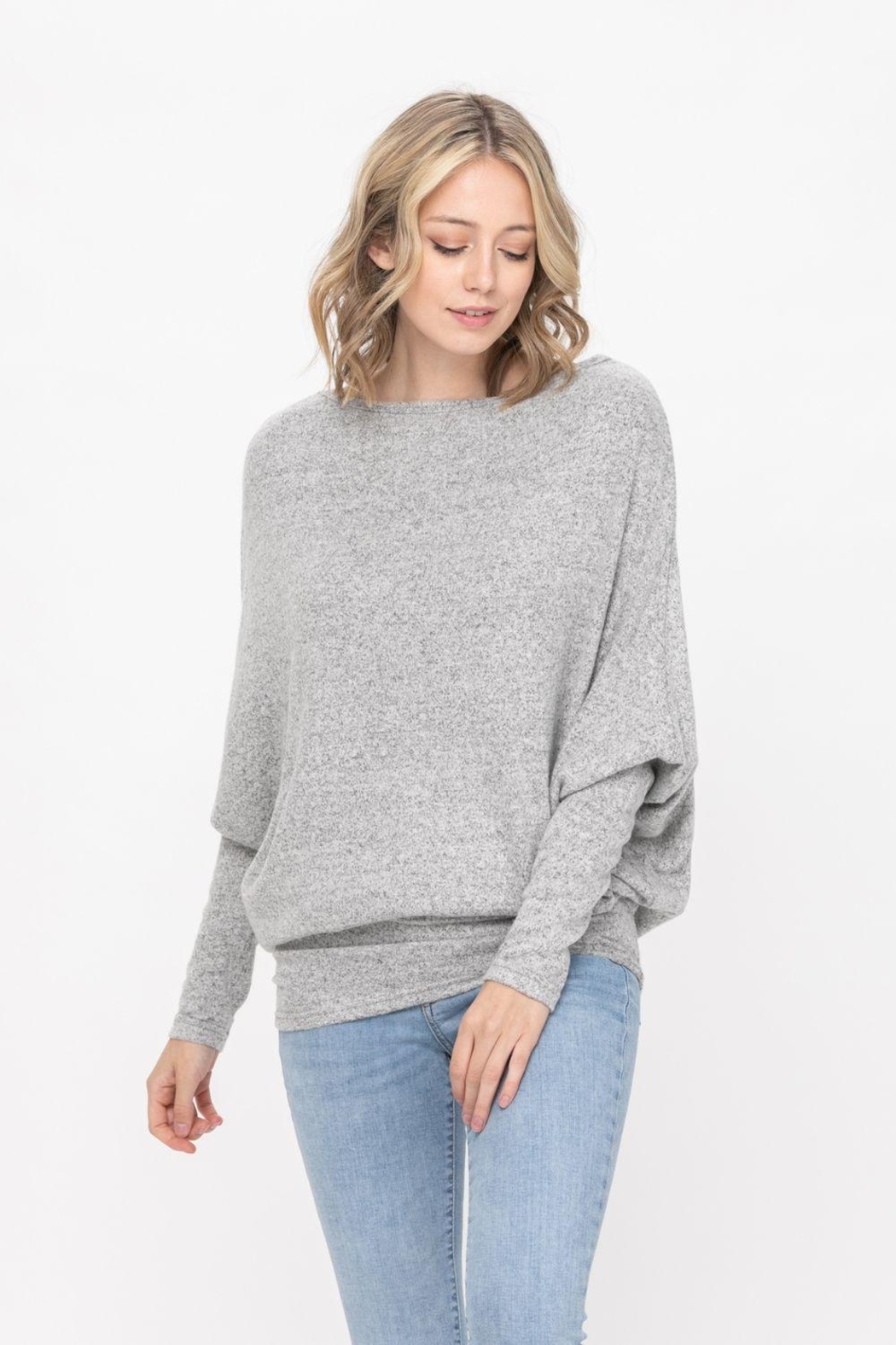 ROLYPOLY Apparel Casual Pullover Dolman Batwing Sweater - Main Image