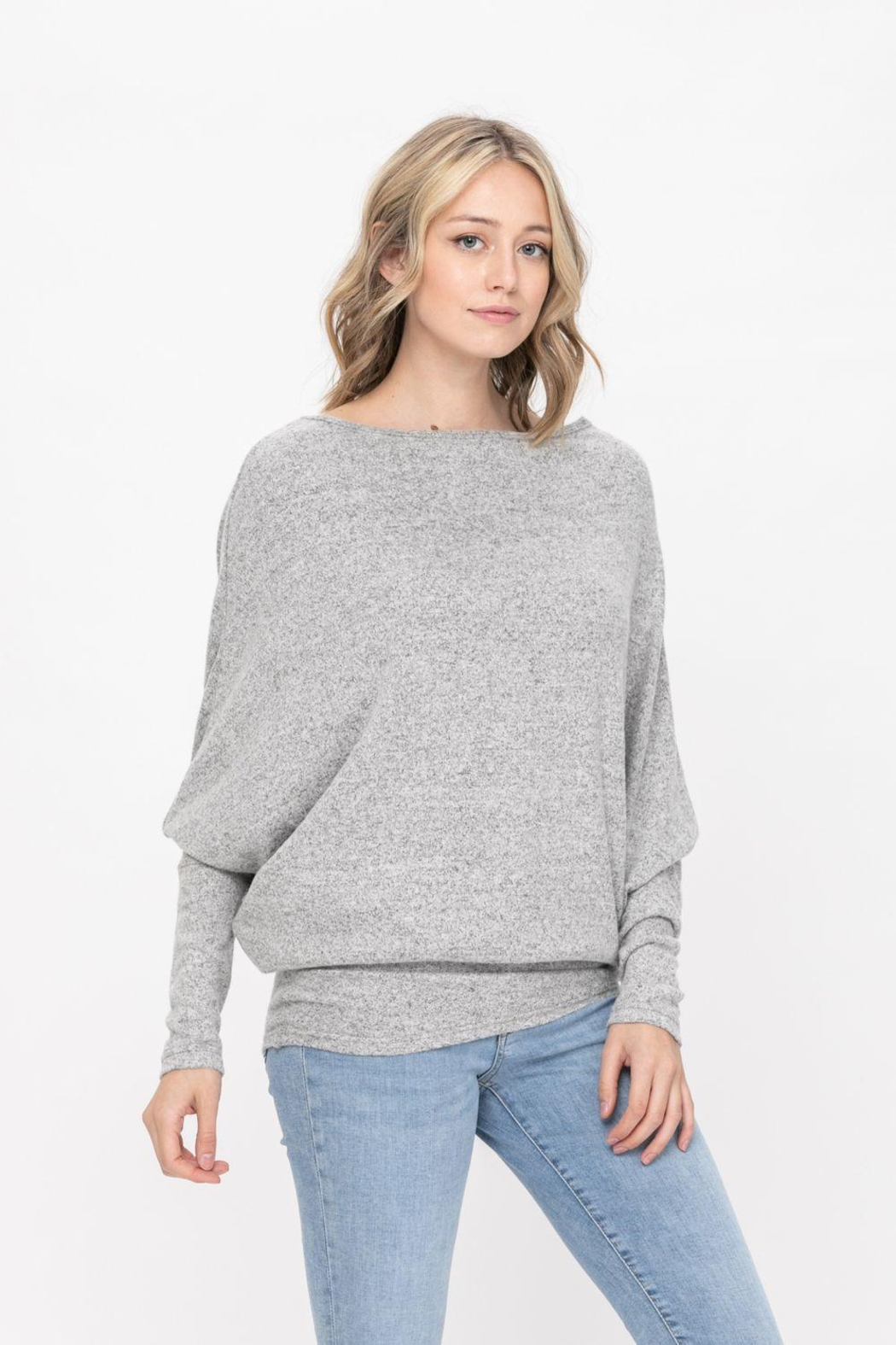 ROLYPOLY Apparel Casual Pullover Dolman Batwing Sweater - Front Full Image