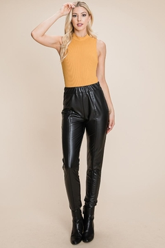 ROLYPOLY Apparel Fleece Lined Faux Leather Leggings - Product List Image