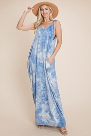 ROLYPOLY Apparel Tie Dye Maxi Dress With Side Pockets - Product Mini Image