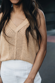 MINKPINK Roma Knit Tank - Side cropped