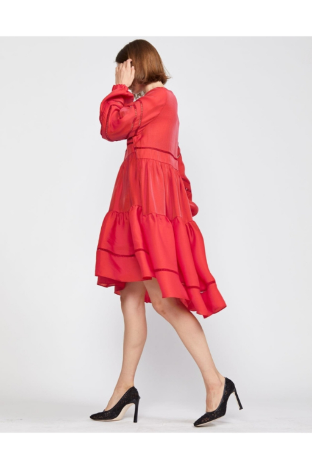 Cynthia Rowley Roma Lace Trim Dress - Front Full Image
