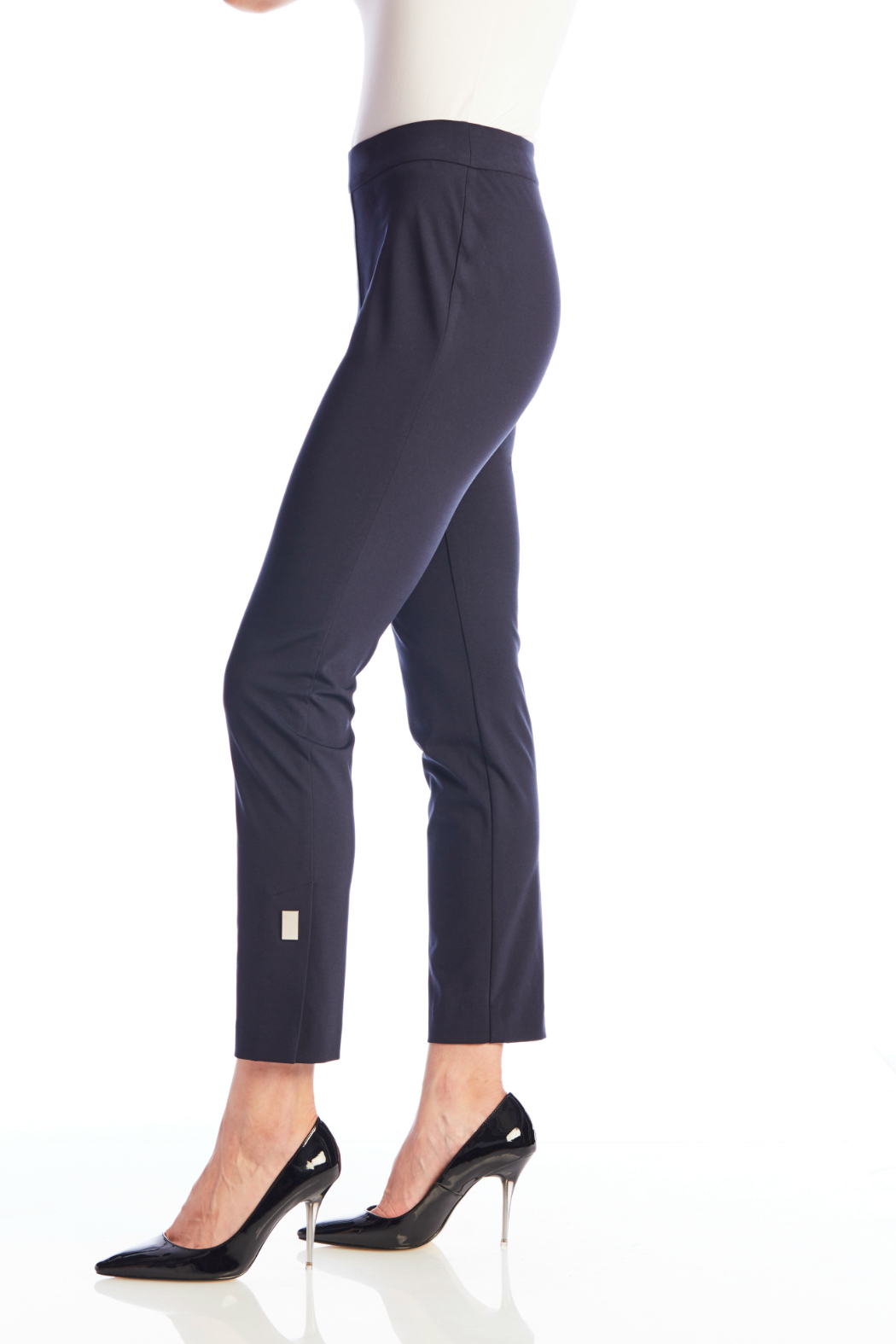 Up! Roma Metal Bar Side Vent Pant - Front Full Image