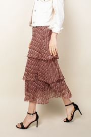 Thml Romance Me Pleated Tier Midi Skirt - Side cropped