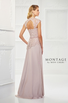 Montage Romantic Crepe Gown, Oyster - Alternate List Image