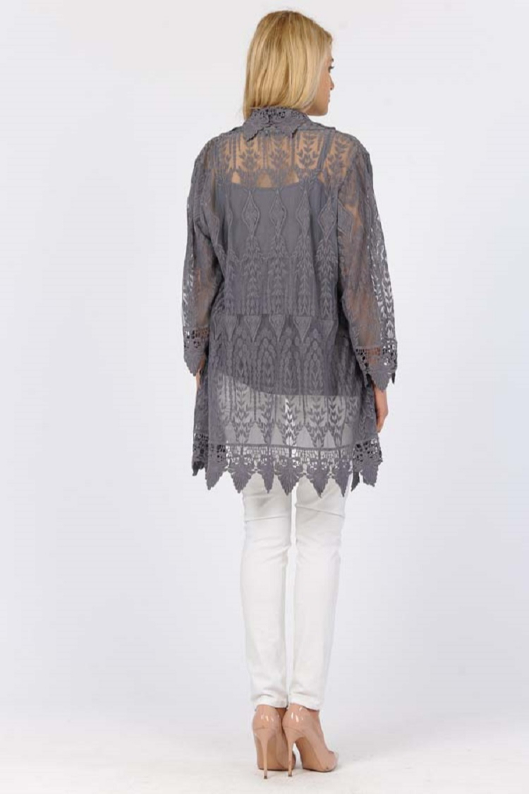Apparel Love Romantic Lace cardigan - Front Full Image