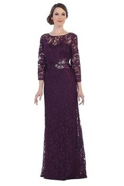 Cindy Collection Romantic Lace Formal Dress - Product Mini Image