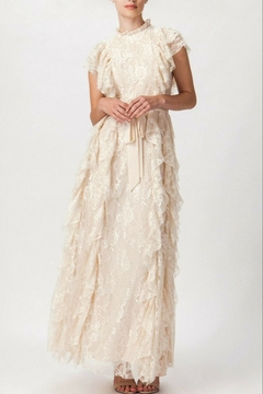 Champagne & Strawberry Romantic Lace Maxi - Product List Image