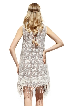 sassy Bling Romantic Lace Vest - Alternate List Image