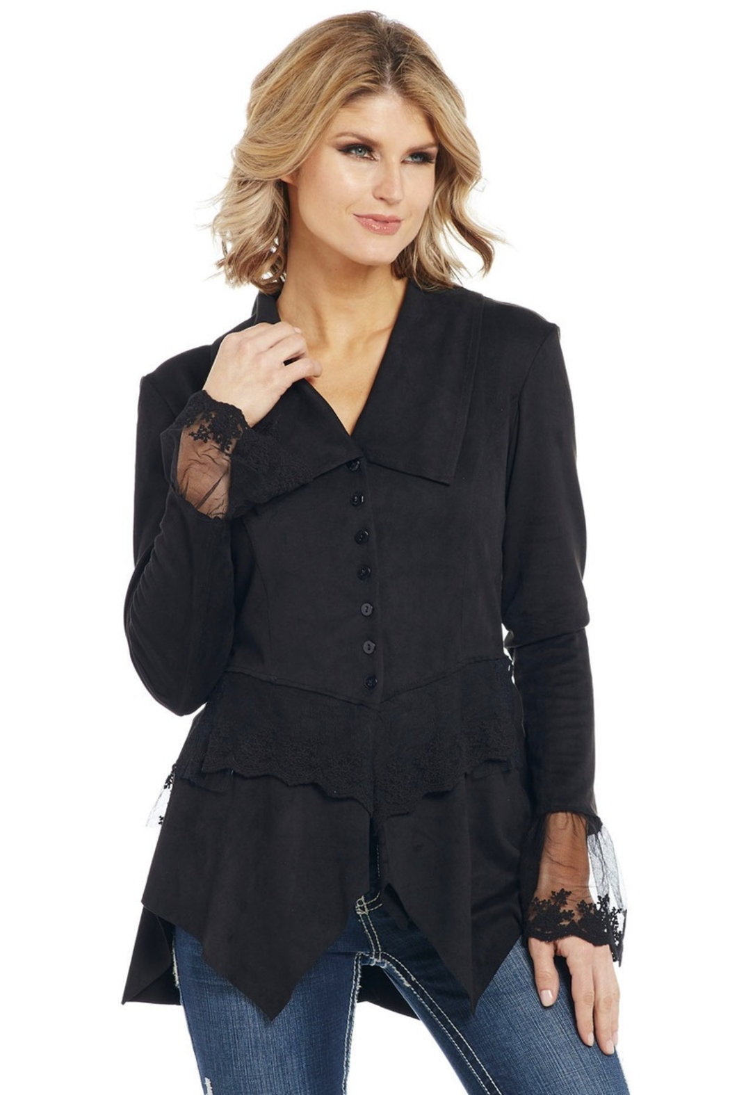 Cripple Creek Romantic Riding Jacket - Front Cropped Image