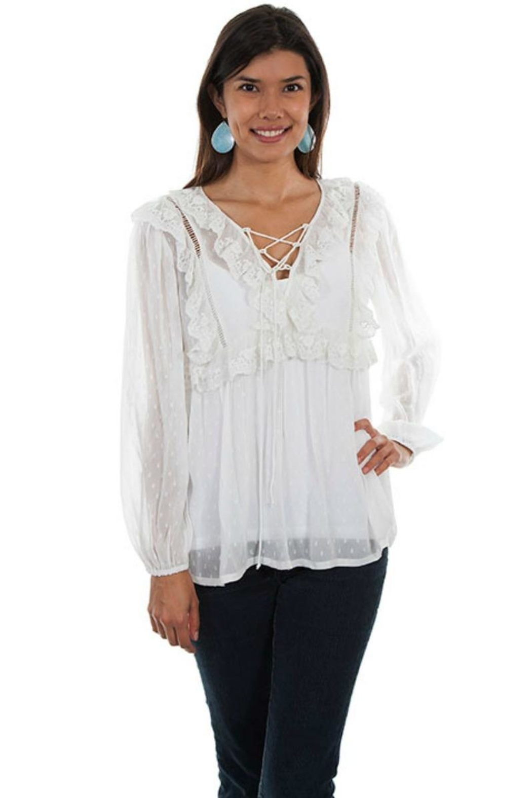 Scully Romantic Ruffled Blouse - Main Image