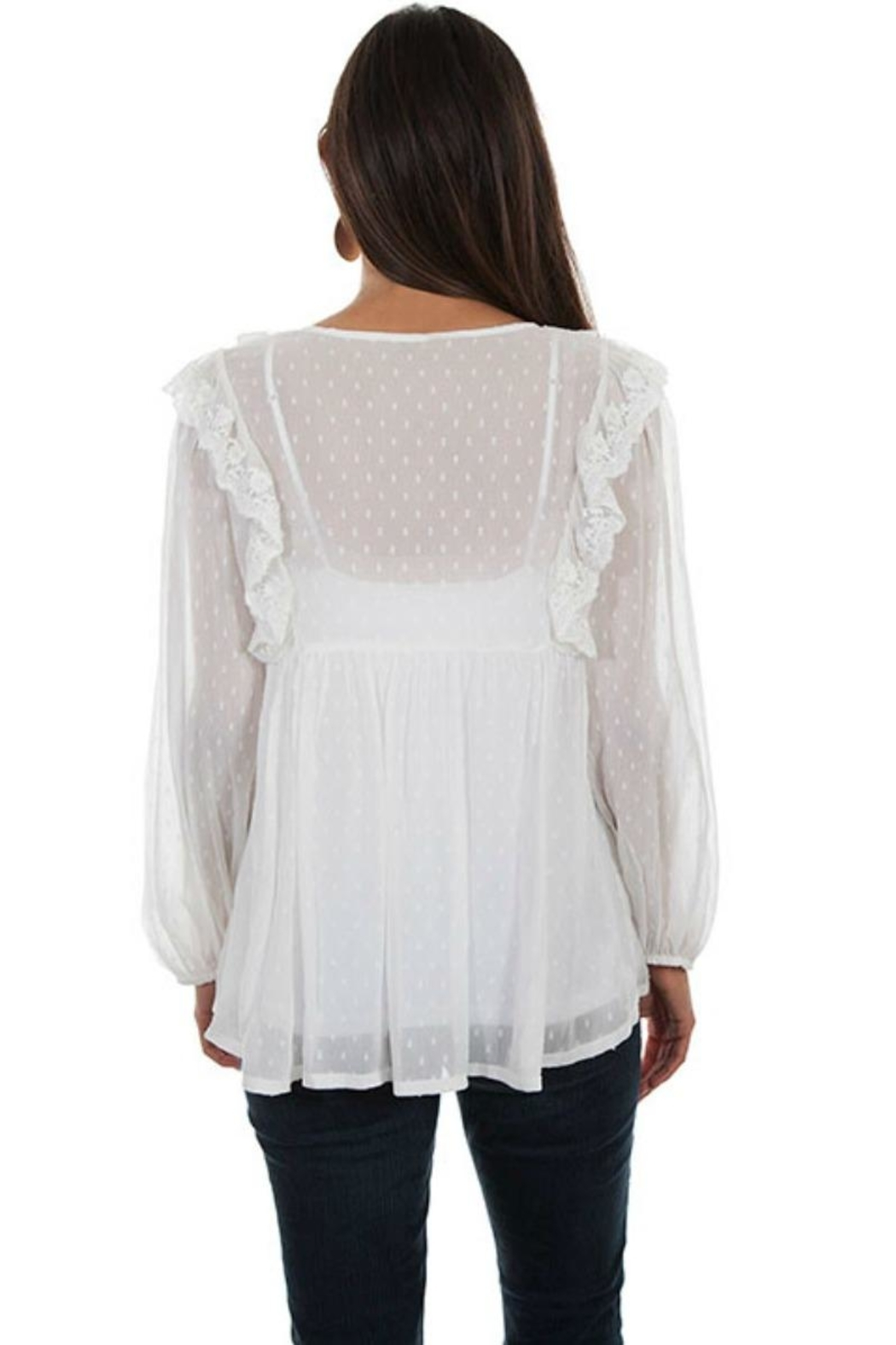 Scully Romantic Ruffled Blouse - Front Full Image