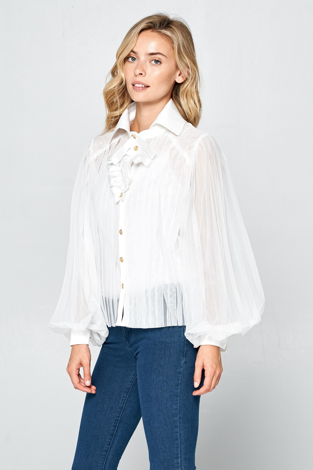 Racine Romantic Silhouette Blouse - Side Cropped Image