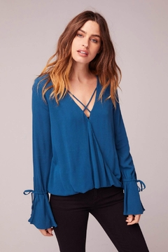 Band Of Gypsies ROME BELL SLEEVE BLOUSE - Product List Image