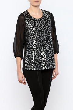 Romeo & Juliet Couture Metallic Blouse - Product List Image