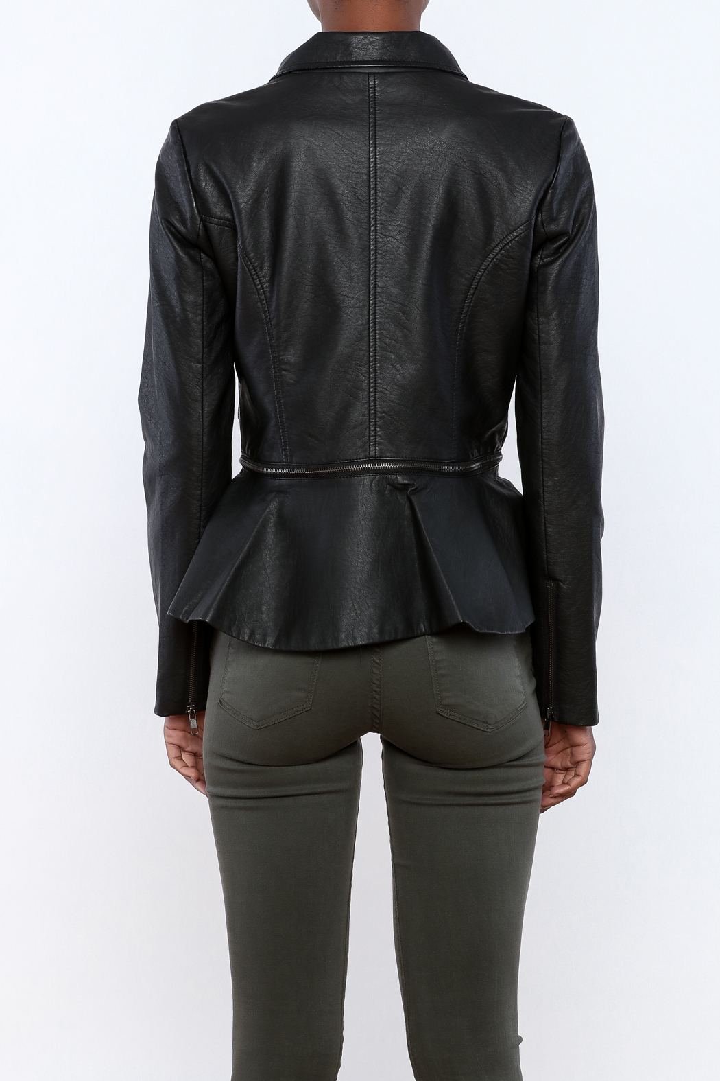 Romeo & Juliet Couture Peplum Jacket - Back Cropped Image