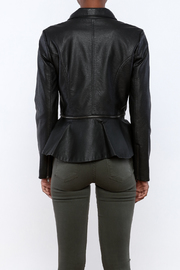 Romeo & Juliet Couture Peplum Jacket - Back cropped