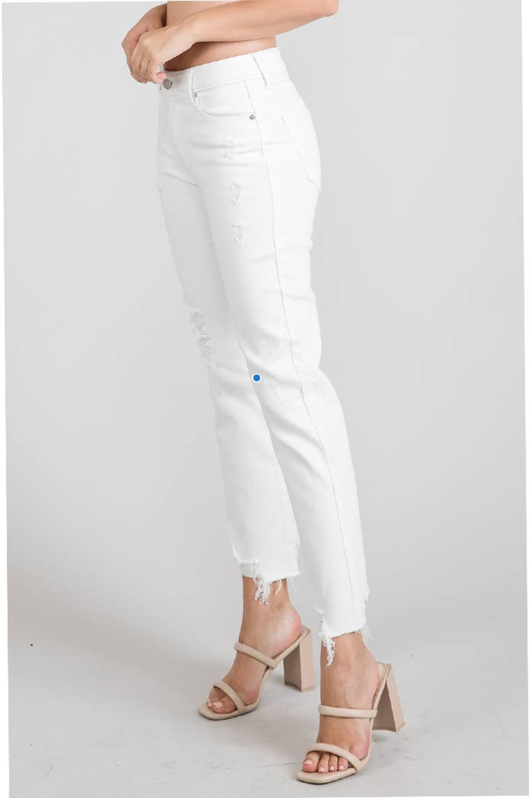 Letters to Juliet Romeo Distressed Relaxed Fit Jean - Front Full Image