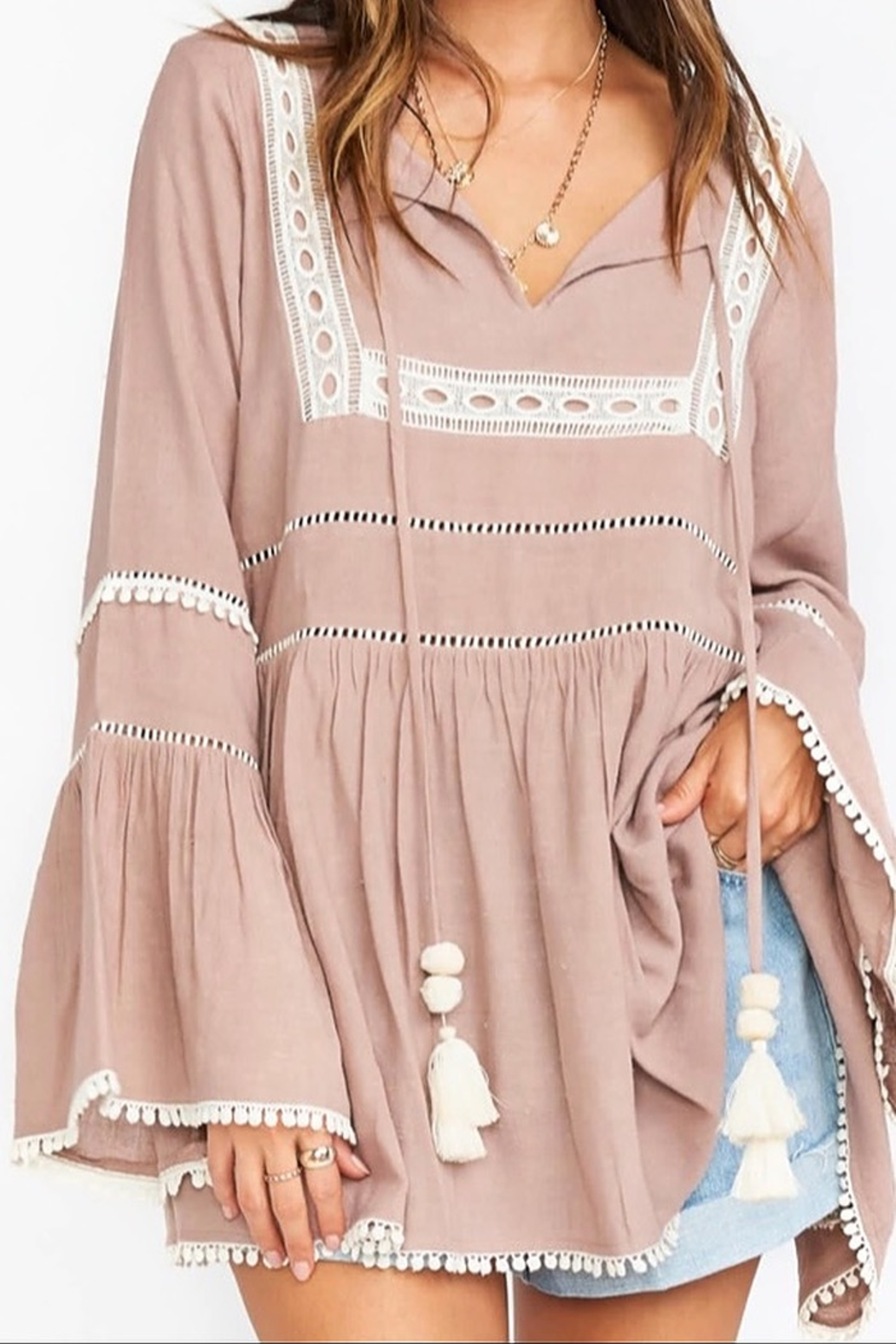 Show Me Your Mumu Romnia Tunic Dress - Front Cropped Image