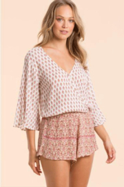 Elan Romper With Contrasting Patterns - Front cropped