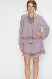 Faith Apparel Romper with Crochet Detailing - Front cropped