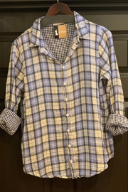 CP Shades Romy Shirt Blue Yellow Plaid - Product Mini Image