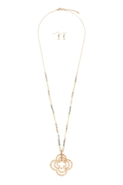 Riah Fashion Rondell-Bead Pendant-Necklace - Product Mini Image