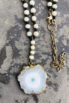 Cashmere Rondell-Bead Pendant-Necklace - Product List Image